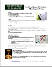 7 Bookings In 7 Days Cheat Sheet